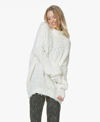 BOSS Ihelena Oversized Trui - Open White