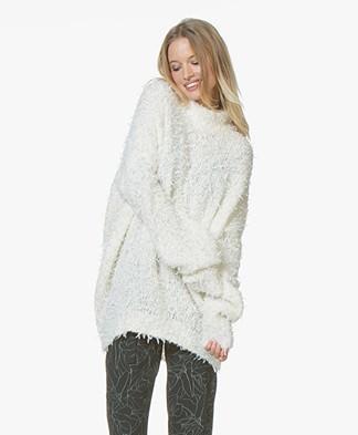 BOSS Ihelena Oversized Sweater - Open White