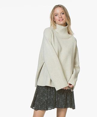 By Malene Birger Aleya Oversized Turtleneck Sweater - Light Grey Melange