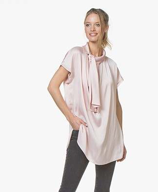 By Malene Birger Jagolanna Satijnen Blouse - English Rose