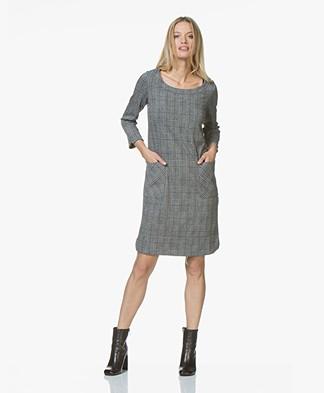 Josephine & Co Josias Checkered Jersey Dress - Dark Grey