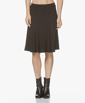 LaSalle Lyocell Jersey Circle Skirt - Black