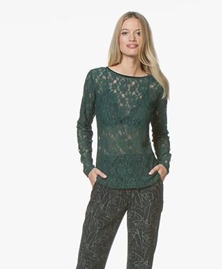 no man's land Lace Long Sleeve - Emerald