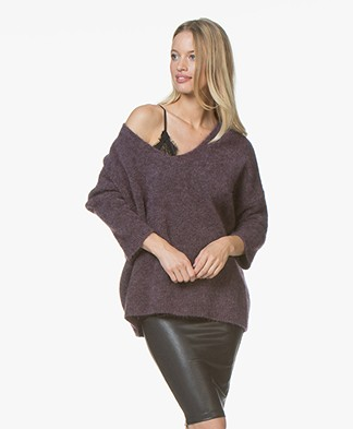 no man's land Mohair Sweater - Amethyst
