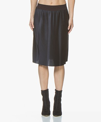 no man's land Pleated Skirt - Dark Sapphire