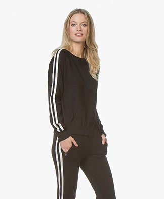 Ragdoll LA Stripe Sweater - Black/White