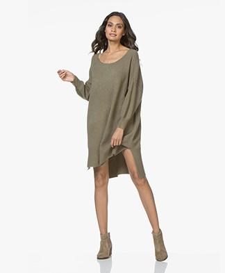 American Vintage Damsville Knitted Sweater Dress - Thyme Melange