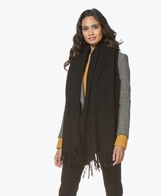 Drykorn Abadi Woolen Scarf - Black