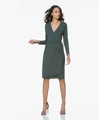 Filippa K Drapey Crepe Wrap Dress - Spruce