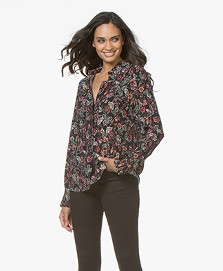 MKT Studio Canou Viscose Print Shirt - Black