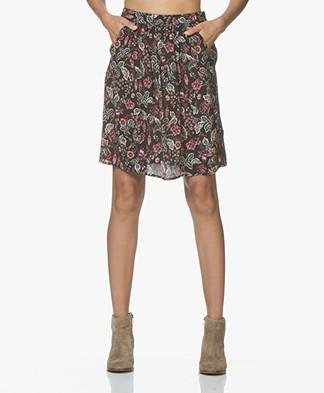 MKT Studio Journi Viscose Print Skirt - Black
