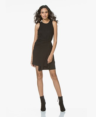 Rag & Bone Leyton Drape Dress - Black