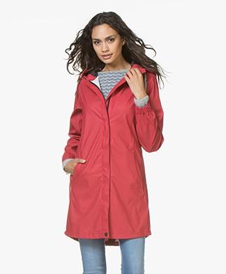 indi & cold Medium-length Raincoat - Cereza