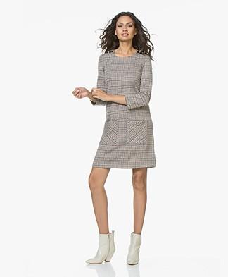 indi & cold Jersey Checkered Print Dress - Canela