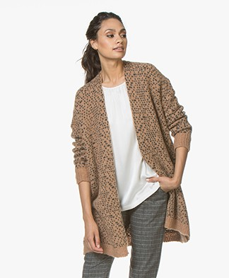 no man's land Half Long Open Cardigan - Warm Birch