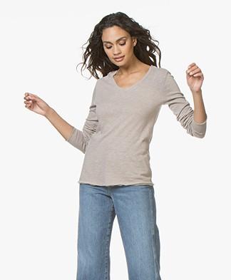 American Vintage Sonoma V-hals Sweater - Vintage Nutmeg
