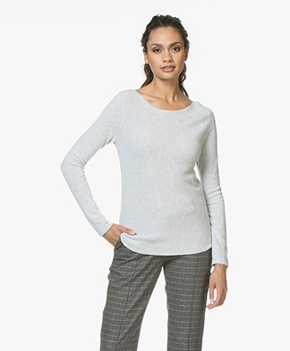 Belluna Como Boat Neck Sweater -Light Ash