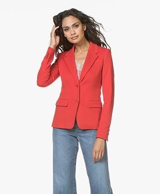 Drykorn Boulder Ponte Jersey Blazer - Red