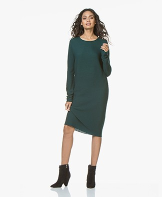 Drykorn Elianne Fine Knitted Wool Dress - Bottle Green