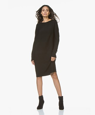 Drykorn Elianne Fine Knitted Wool Dress - Black