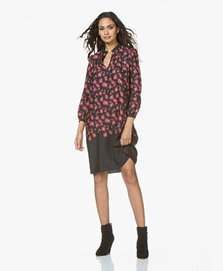 Drykorn Juliette Viscose Print Dress - Black