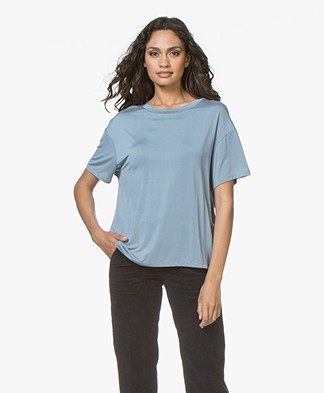 Drykorn Kyla Cupro T-shirt - Light Blue