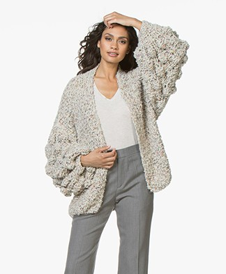 Kiro By Kim Soft Cardigan with Unique Structure - Neutral
