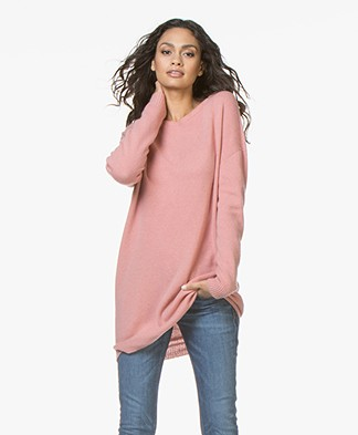 Majestic Filatures Oversized Merino-Cashmere Sweater - Blush