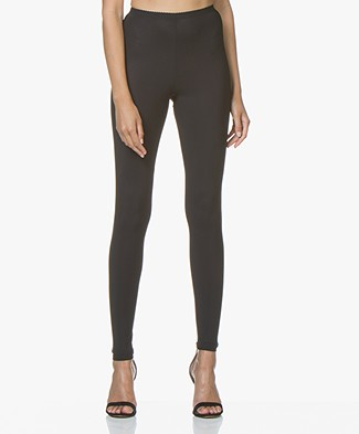 no man's land Travel Jersey Leggings - Blue Black