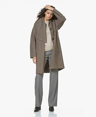 Vanessa Bruno Cashmere and Wool John Coat - Carreaux