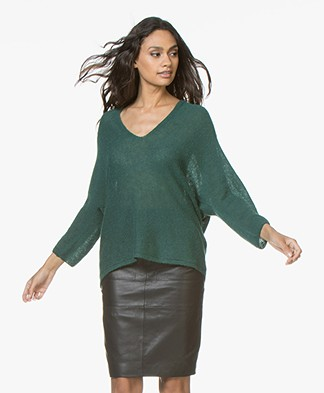 Drykorn Silja Delicate Alpaca Blend Sweater - Bottle Green