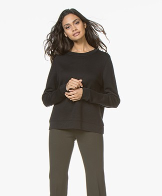 Drykorn Mairina Sweatshirt with Ribbon Closure - Black