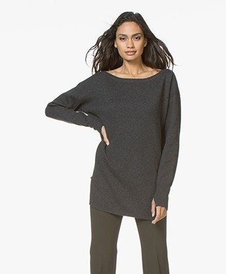Filippa K Soft Sport 2-tone Split Sweater - Antraciet