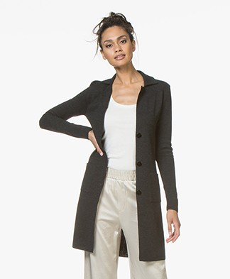 Belluna Sixteen Long Blazer Cardigan - Anthracite