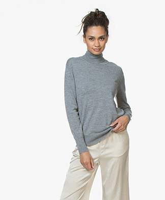 Filippa K Merino Roller Neck Sweater - Mid Grey Melange