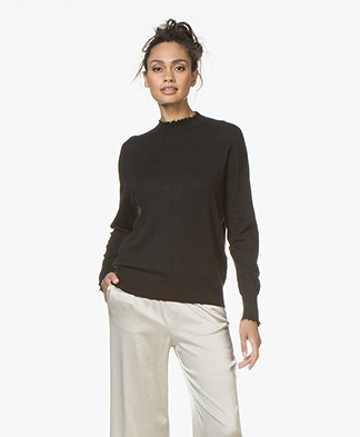 Filippa K Frayed Sweater - Black