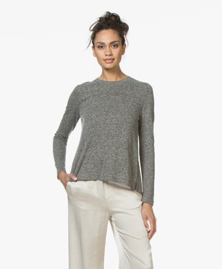 indi & cold Long Sleeve with Box Pleat - Marengo