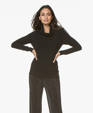 Belluna Broome Wool Blend Turtleneck Pullover - Black