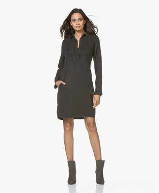 BY-BAR Bas Tencel Tunic Dress - Phantom Black
