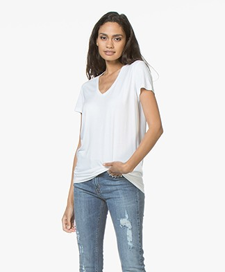By Malene Birger Fevia Stretch-blend T-shirt - Wit