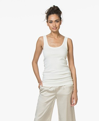 By Malene Birger Ribbed Tanktop Newdawn - Crème