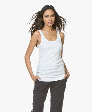 By Malene Birger Ribbed Tanktop Newdawn - Wit