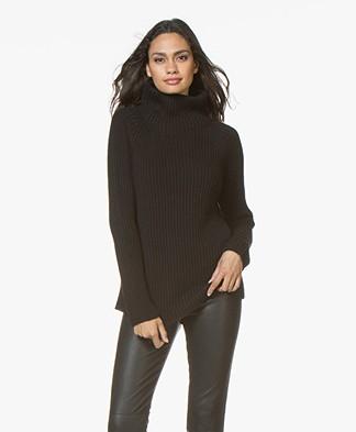 Drykorn Arwen Rib Knit Turtleneck Sweater - Black