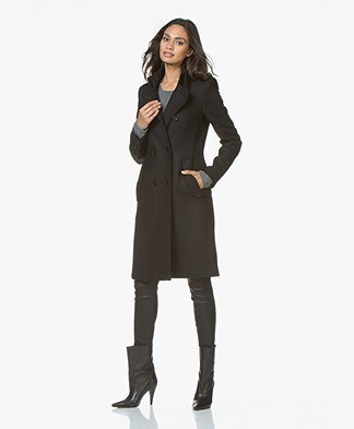 Drykorn Buckey Double Breasted Coat - Black