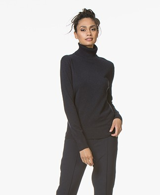 Filippa K Cashmere Roller Neck Sweater - Dark Navy