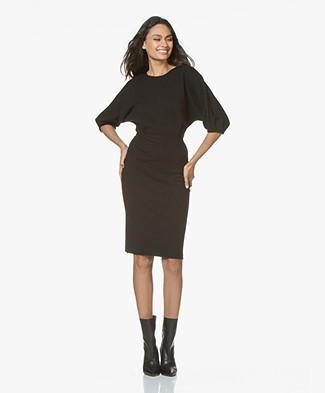 Filippa K Volume Sleeve Wool Dress - Black