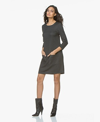 indi & cold Ponte Milano Jersey Dress - Marengo