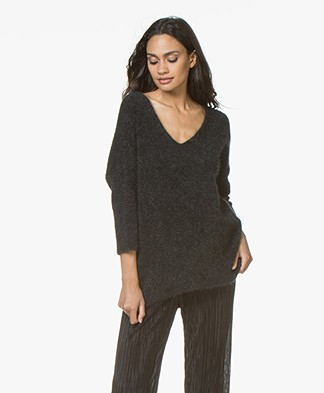 no man's land Mohair Sweater - Anthracite