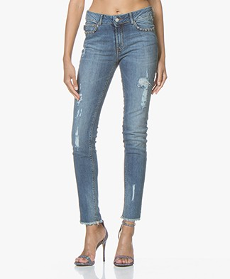 Zadig & Voltaire Eva Use Stretchy Slim-fit Jeans - Blue