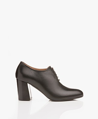 ATP Atelier Rafano Leather Ankle Boots - Black Vacchetta